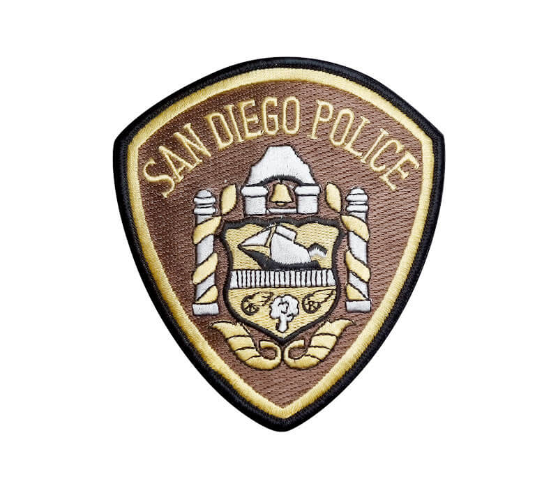 San Diego Police Embroidered Badge