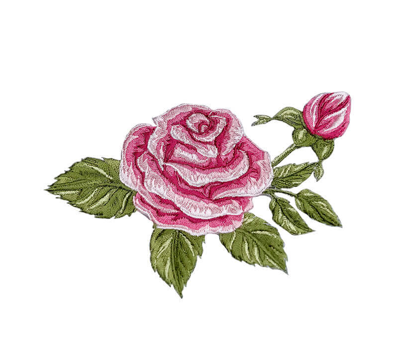 Embroidered Rose Floral