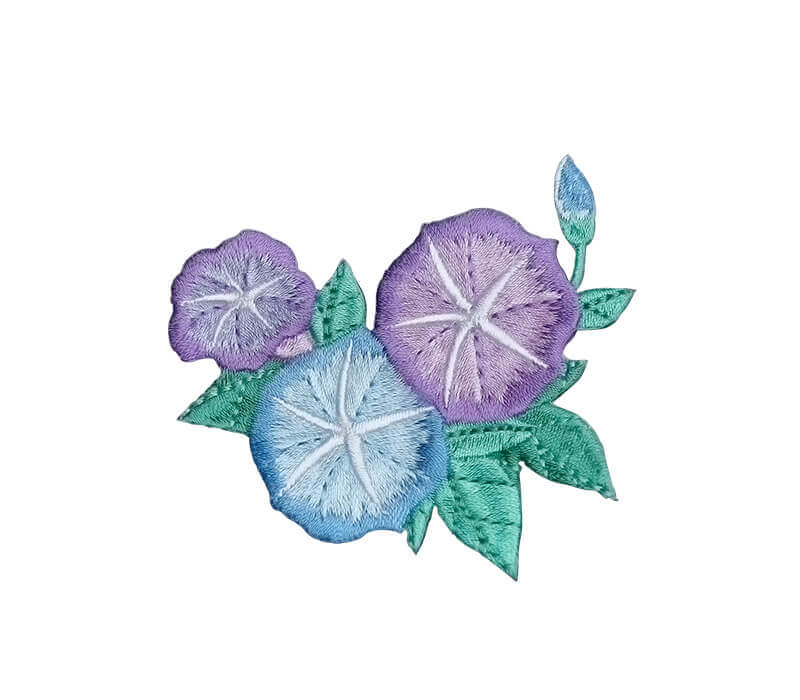 Purple Morning Glory Embroidery Pattern